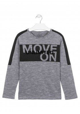 camiseta de manga larga con printde Losan para niño modelo 023-1020AL