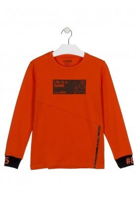 camiseta de manga larga con printde Losan para niño modelo 023-1019AL