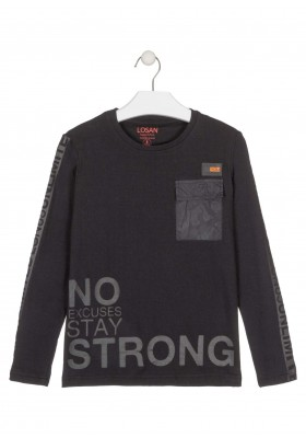 camiseta de manga larga de rayasde Losan para niño modelo 023-1018AL