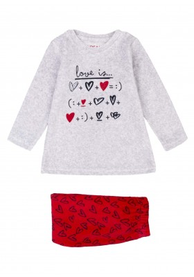 pijama de tundosado con printde Losan para niña modelo 026-P002AL