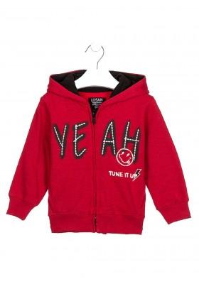 chaqueta de felpa perchada rayadade Losan para niño modelo 025-6660AL