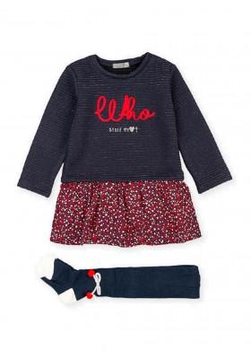 conjunto de vestido y leotardode Losan para niña modelo 026-8049AL
