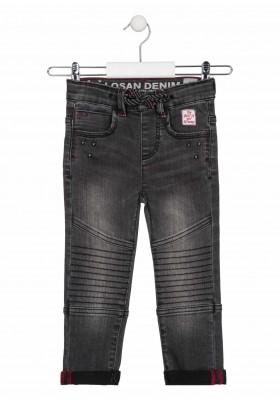 pantalon denim con pieza en rodillade Losan para niño modelo 025-9000AL