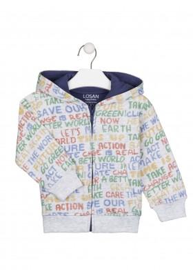 chaqueta de felpa perchada con capuchade Losan para niño modelo 025-6001AL