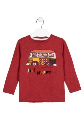 camiseta de manga larga con parchede Losan para niño modelo 025-1027AL