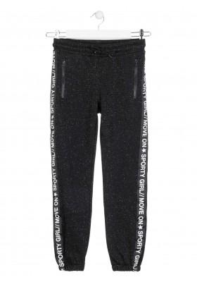 pantalon felpa perchada con lurexde Losan para niña modelo 024-6010AL