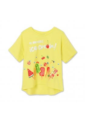 Camiseta manga corta grafica Mayoral para niña modelo 6021