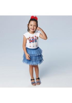 Conjunto falda tul plisado Mayoral para niña modelo 3961