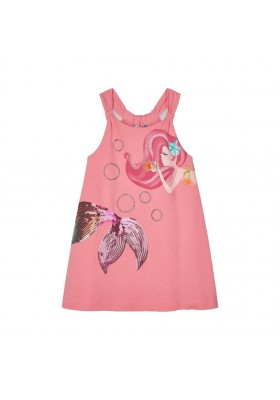Vestido grafica aplicaciones Mayoral para niña modelo 3955