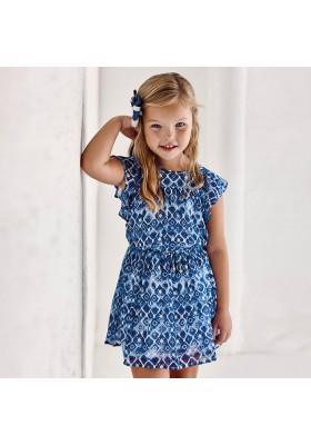 Vestido gasa estampada Mayoral para niña modelo 3937