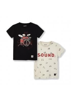 "Set 2 camiseta manga corta ""sound"" Mayoral para niño modelo 3050"