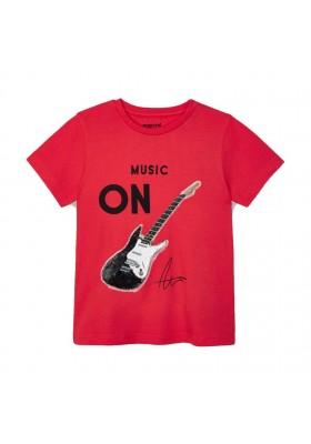Camiseta manga corta lentejuelas Mayoral para niño modelo 3048