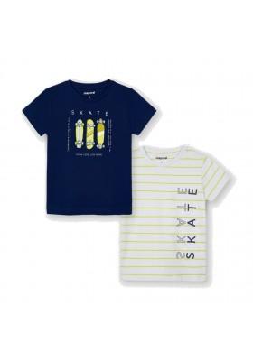 Set 2 camiseta manga corta skate Mayoral para niño modelo 3045