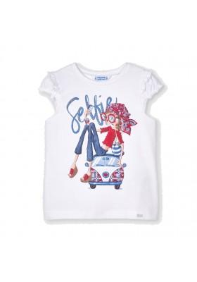 Camiseta manga corta muñeca Mayoral para niña modelo 3013