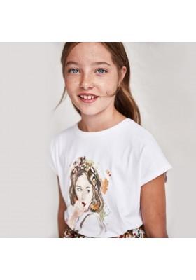 Camiseta manga corta nudo espalda Mayoral para niña modelo 6014