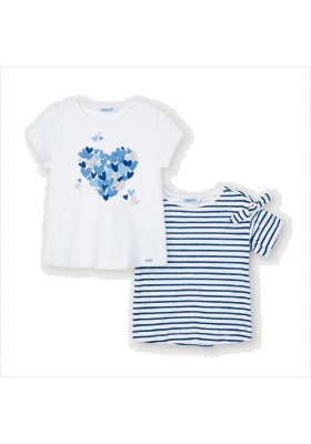Set 2 camisetas manga corta Mayoral para niña modelo 3009