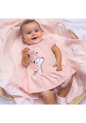 Vestido punto grafica de Mayoral para bebe niña modelo 1838