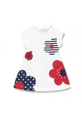 Vestido punto evase de Mayoral para bebe niña modelo 1836