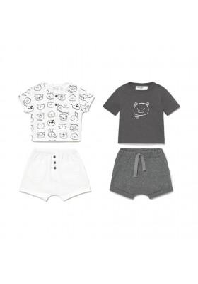 Conjunto punto 4 piezas corto de Mayoral para bebe niño modelo 1645