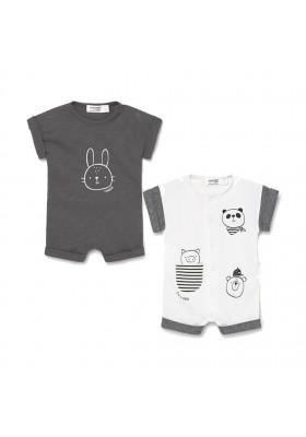 Set 2 peleles cortos de Mayoral para bebe niño modelo 1634