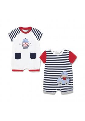 Set 2 peleles cortos de Mayoral para bebe niño modelo 1631