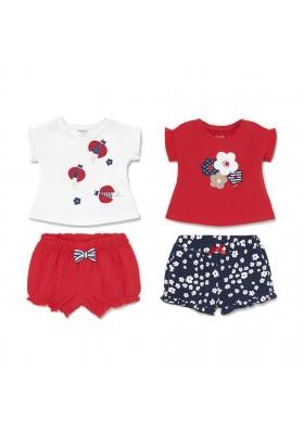 Conjunto punto 4 piezas corto de Mayoral para bebe niña modelo 1620
