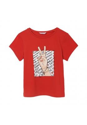 Camiseta manga corta grafica Mayoral para niña modelo 6020