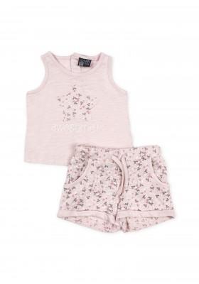 Conjunto camiseta y pantalón cortobebe niña LOSAN color rosado