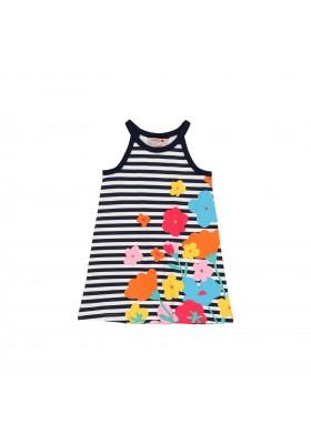 Vestido punto flores y rayas de niña Boboli modelo 822507