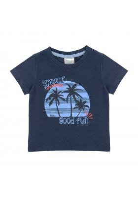 "Camiseta punto ""palmeras"" de bebé niño Boboli modelo 312084"