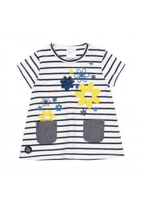 Vestido punto elástico listado de bebé n Boboli modelo 202048