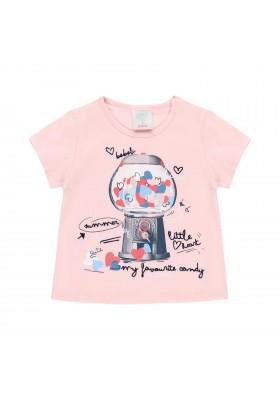 Camiseta punto corazones de bebé niña Boboli modelo 212016