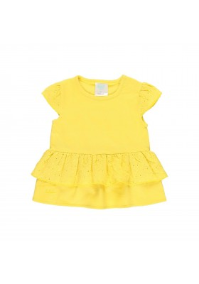Camiseta punto con volante de bebé niña Boboli modelo 202093