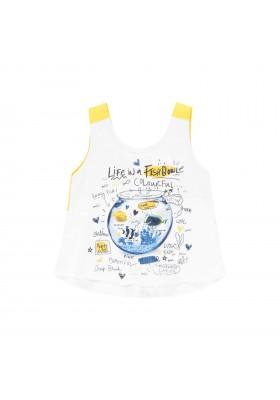 Camiseta punto con lazo de bebé niña Boboli modelo 202071