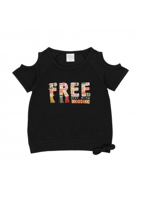 "Camiseta punto ""free spirit"" de niña Boboli modelo 462002"
