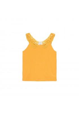 Camiseta punto con puntilla de niña Boboli modelo 462024