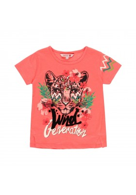 """Camiseta punto flamé """"tigre"""" de niña Boboli modelo 412142"""