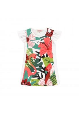 Vestido punto tropical de niña Boboli modelo 412085
