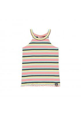Camiseta punto canalé tirantes de niña Boboli modelo 422121