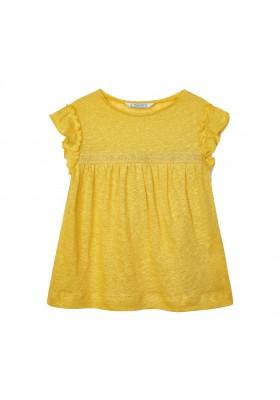 Camiseta manga corta lino Mayoral para niña modelo 3006