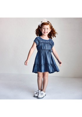 Vestido tejano Mayoral para niña modelo 3936