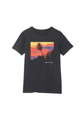 Camiseta manga corta print fotografic Mayoral para niño modelo 6091