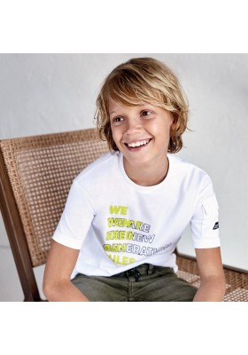 Camiseta manga corta bolsillo manga Mayoral para niño modelo 6088