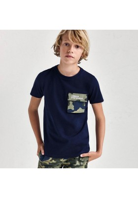 Camiseta bolsillo combinado Mayoral para niño modelo 6085