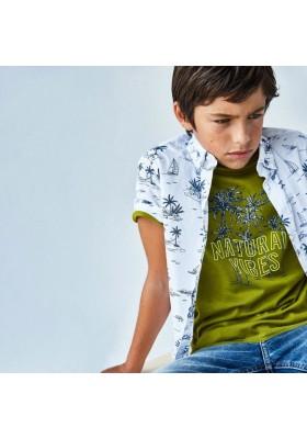 "Camiseta manga corta ""natural vibes"" Mayoral para niño modelo 6082"