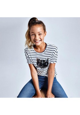 Camiseta manga corta grafica Mayoral para niña modelo 6018