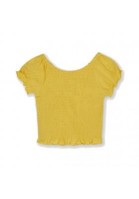 Camiseta manga corta nido de abeja Mayoral para niña modelo 6015
