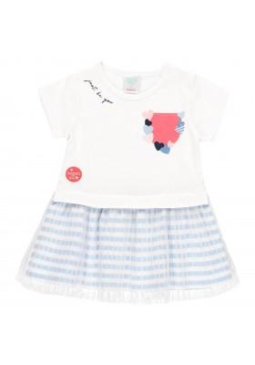 Vestido punto con tul de bebé niña Boboli modelo 212094