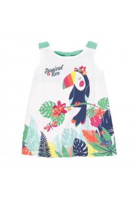 "Vestido punto ""pajaro"" de bebé niña Boboli modelo 242086"