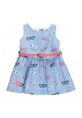 """Vestido satén """"gafas"""" de bebé niña Boboli modelo 212083"""